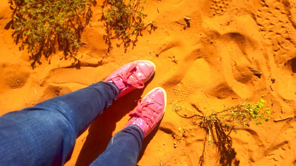Luberon, Vaucluse. PACA. Le sentiers des ocres. Couleur du sable