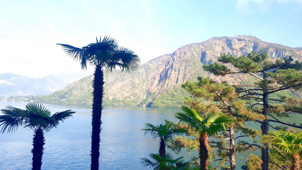 Lac de côme milan italie blog voyage clioandco palmiers