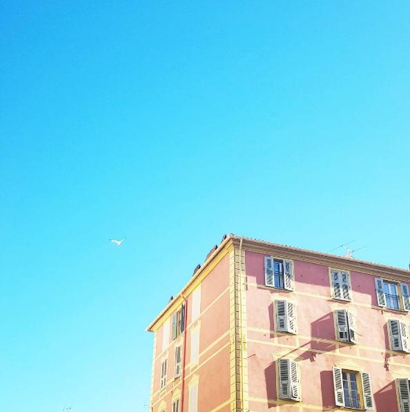 Ajaccio. un immeuble. Corse, France