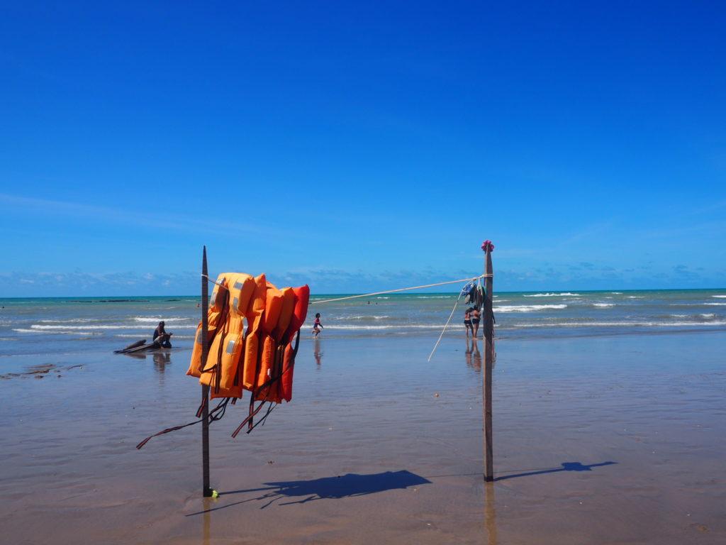 Brésil, Céara, nordeste : Plage de Canoa Quebrada