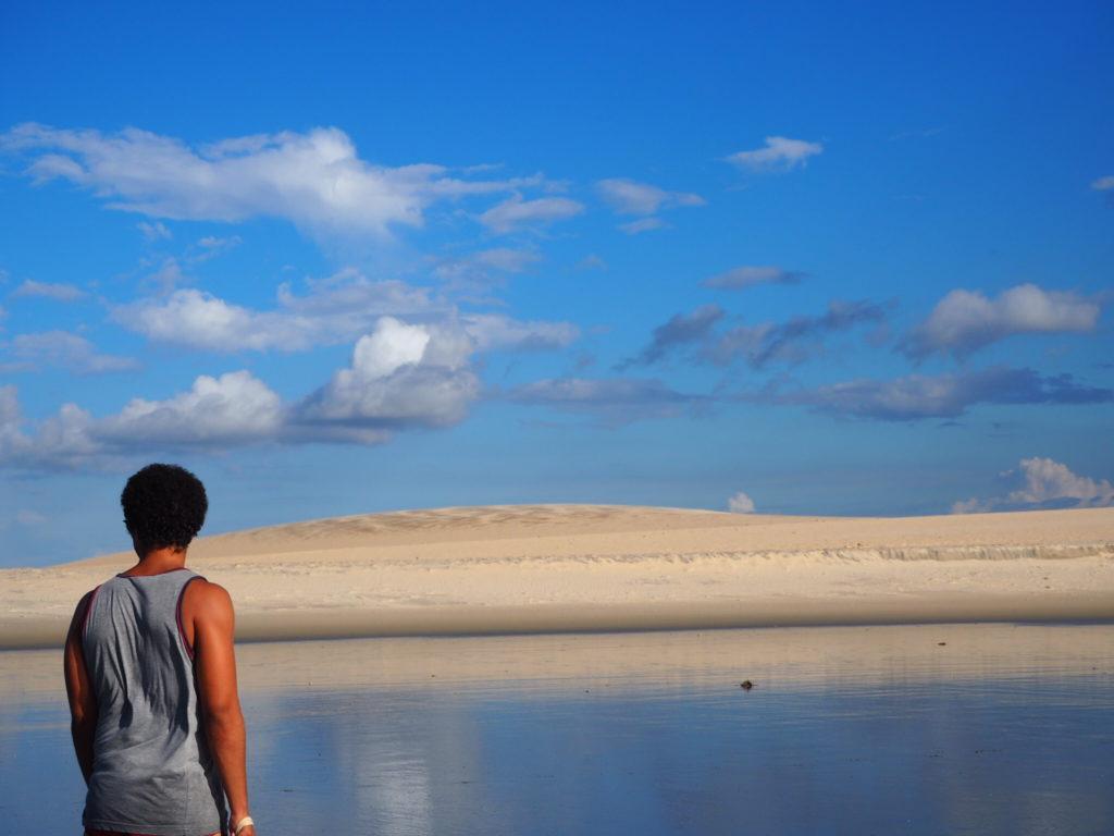 Vue sur les dunes à Jericoacoara, Ceara, Brésil