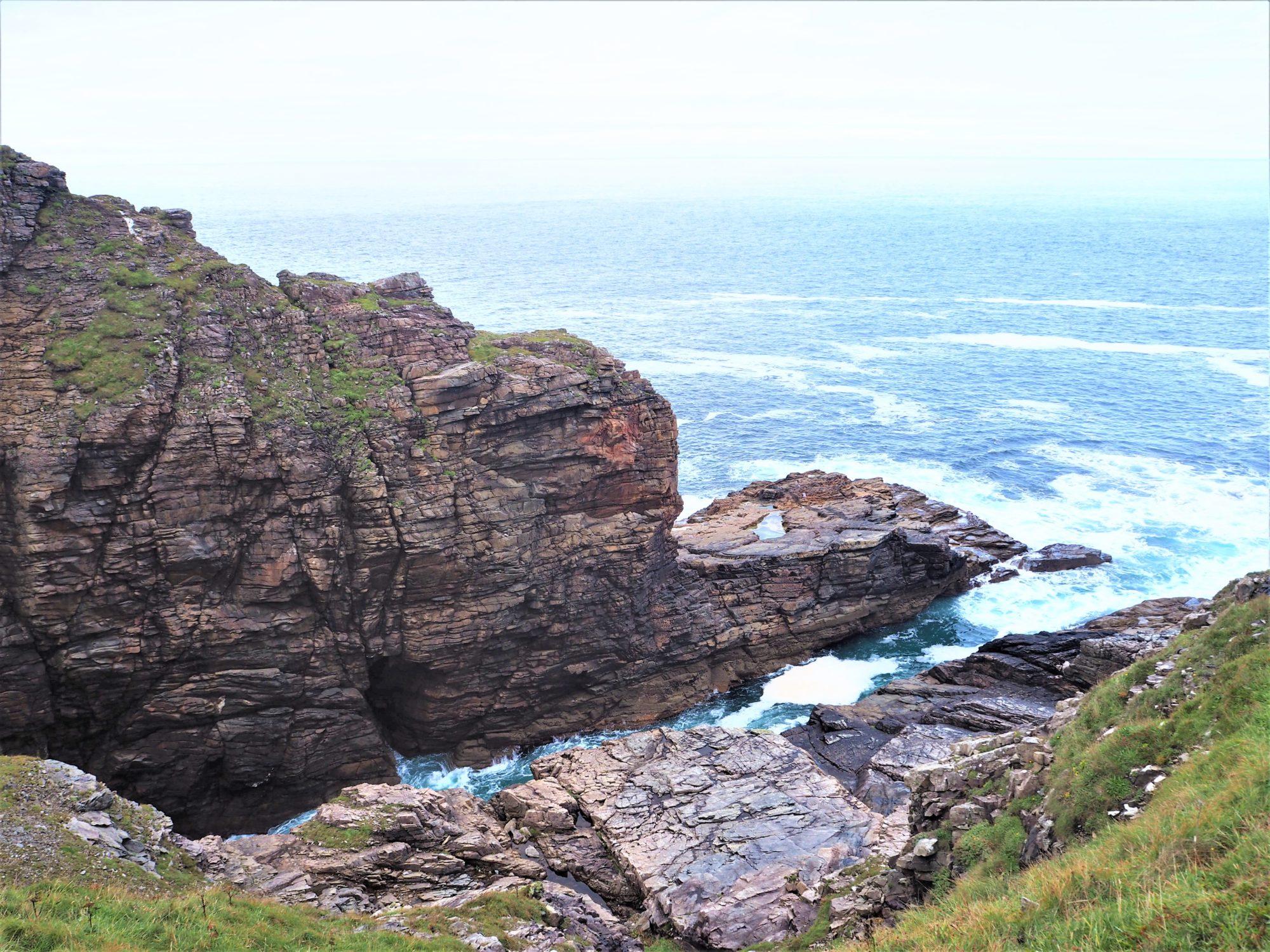 Malin Head Donegal Irlande, roche