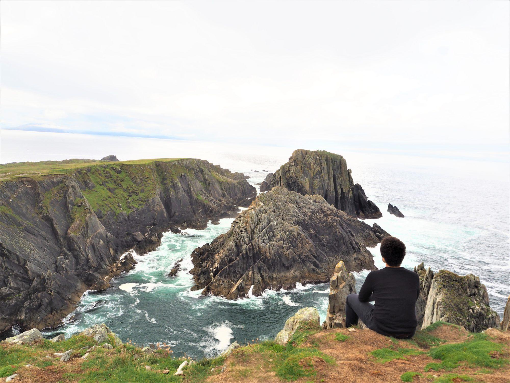 Fin du chemin de Malin Head Donegal Irlande