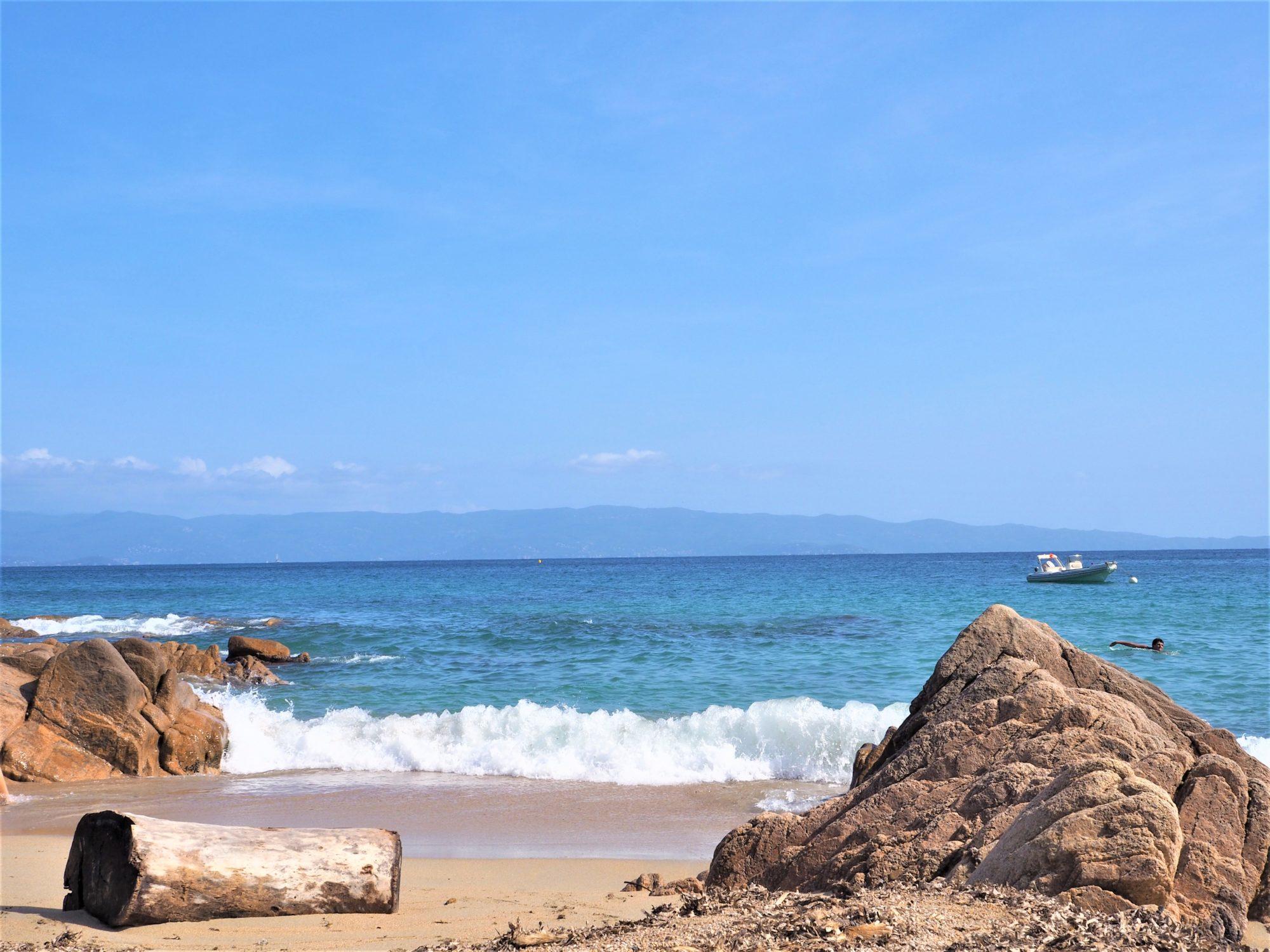 Moorea, plage à Ajaccio, Corse du Sud