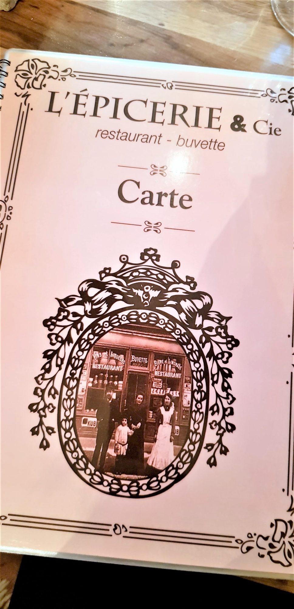 carte restaurant Dijon l'Epicerie & Co clioandco