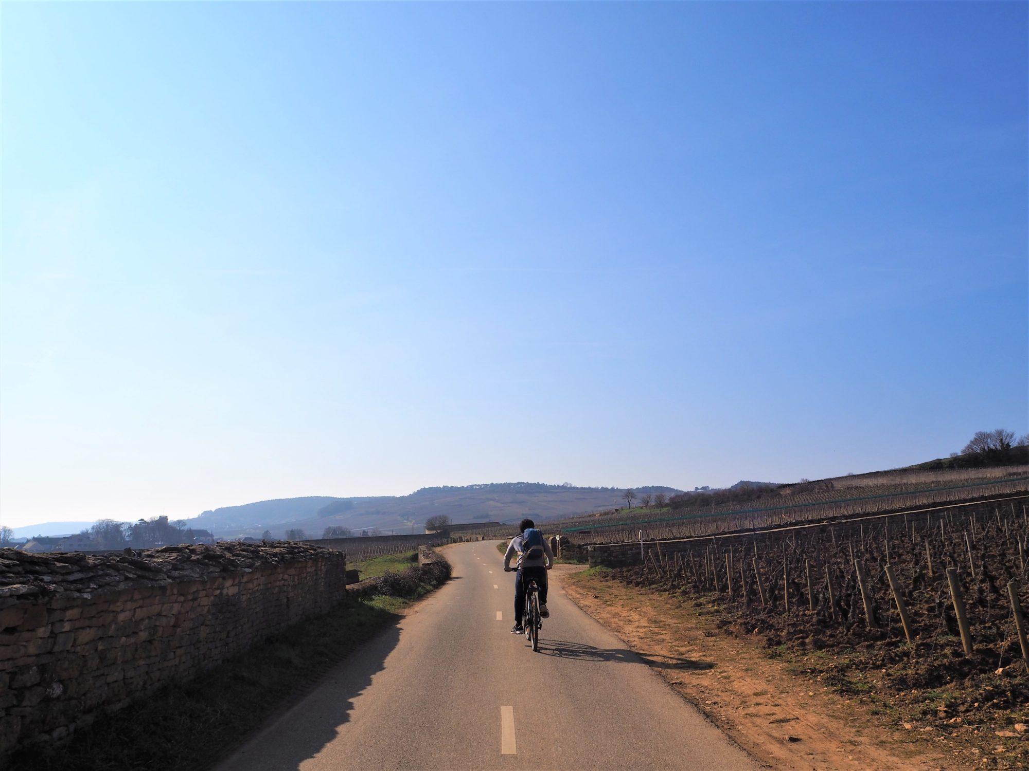 Clioandco la voie des vignes faire du vélo à Beaune en Bourgogne