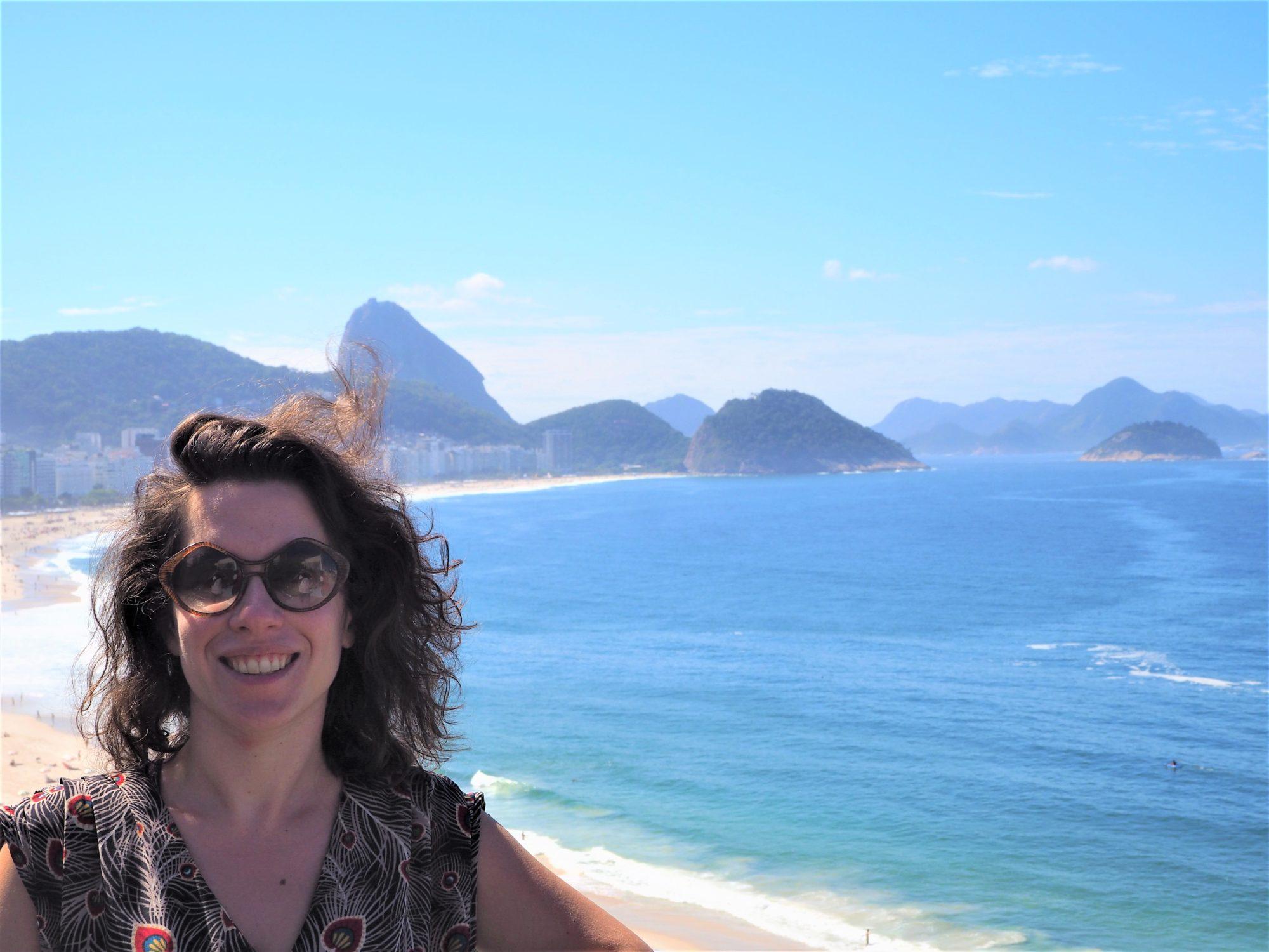 Copacabana brésil clioandco blog voyages vue de haut