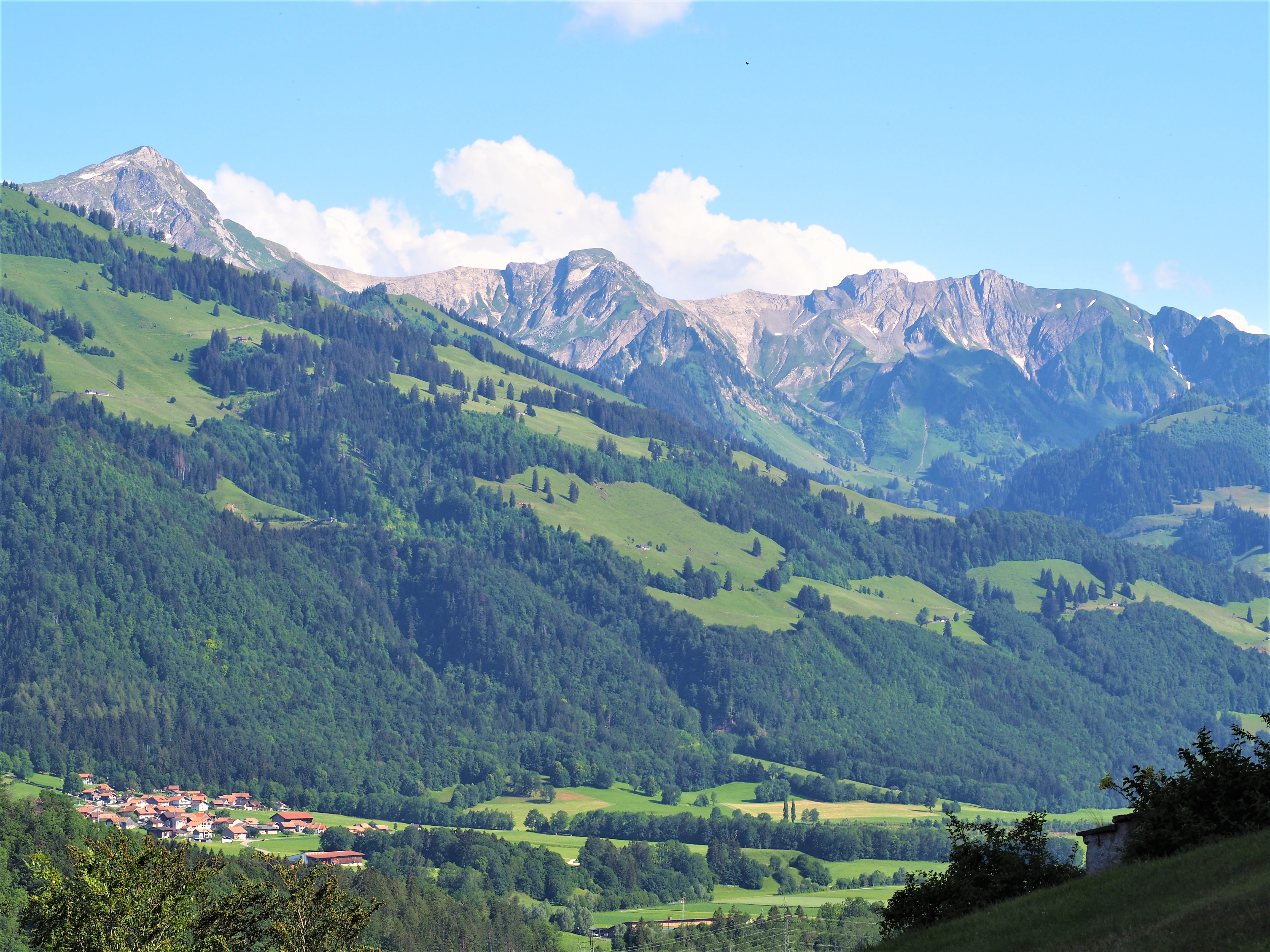 Visiter-Gruyères-canton-de-Fribourg-Suisse-paysage-depuis-le-château-clioandco-blog-voyages.