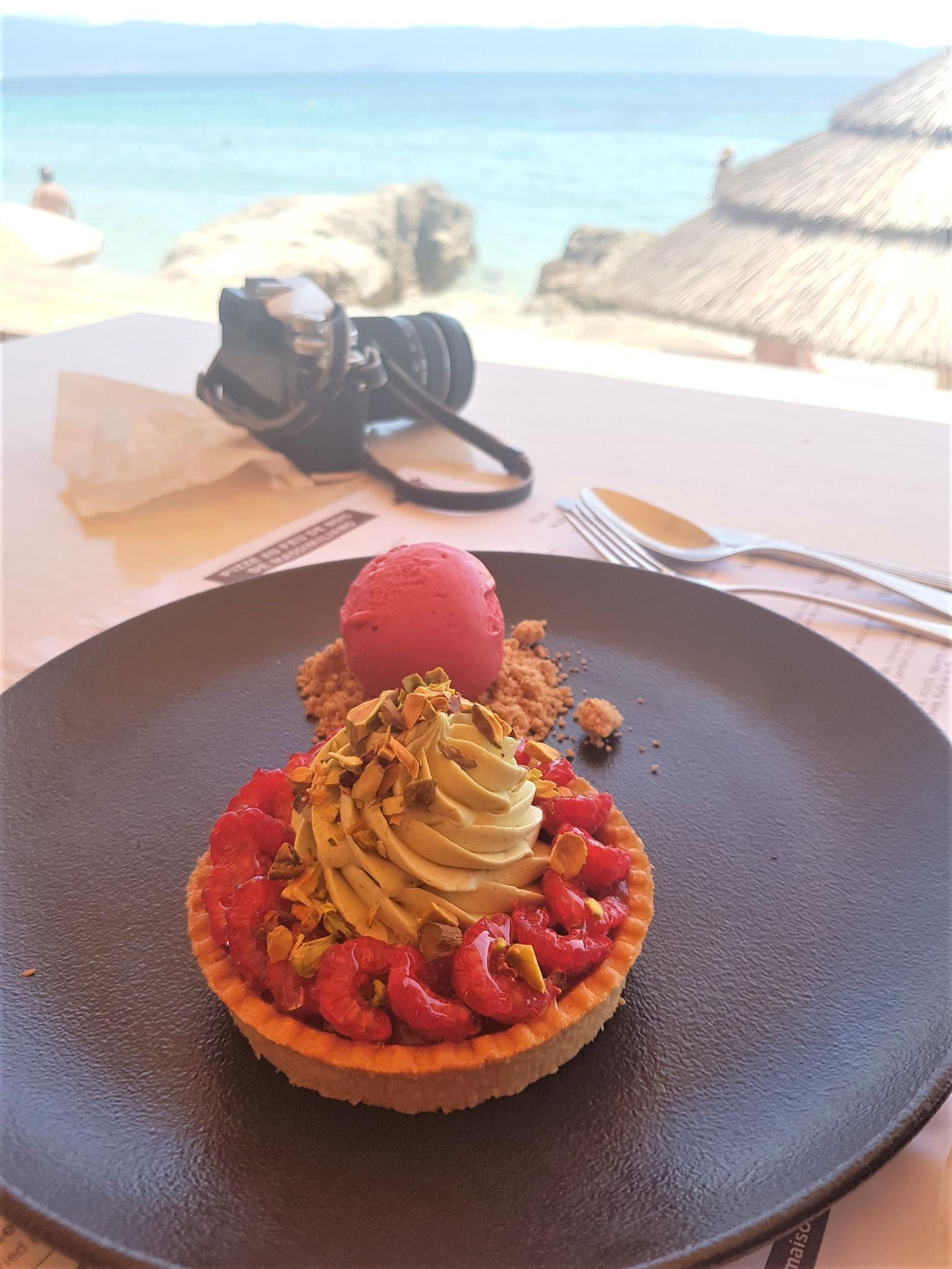 dessert au Neptune restaurant ajaccio blog voyage corse clioandco