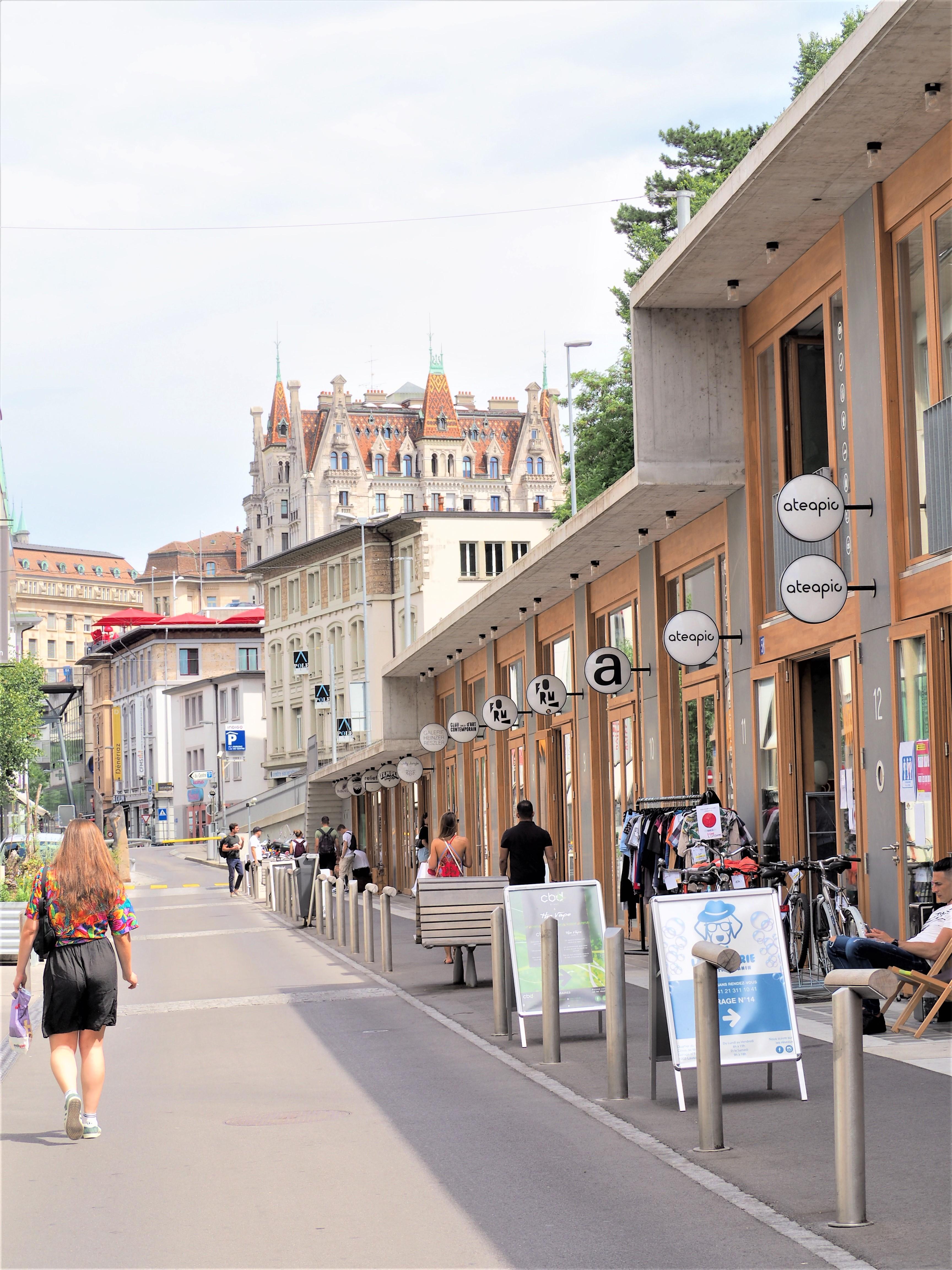 Lausanne boutiques quartier du flon visiter la suisse clioaandco