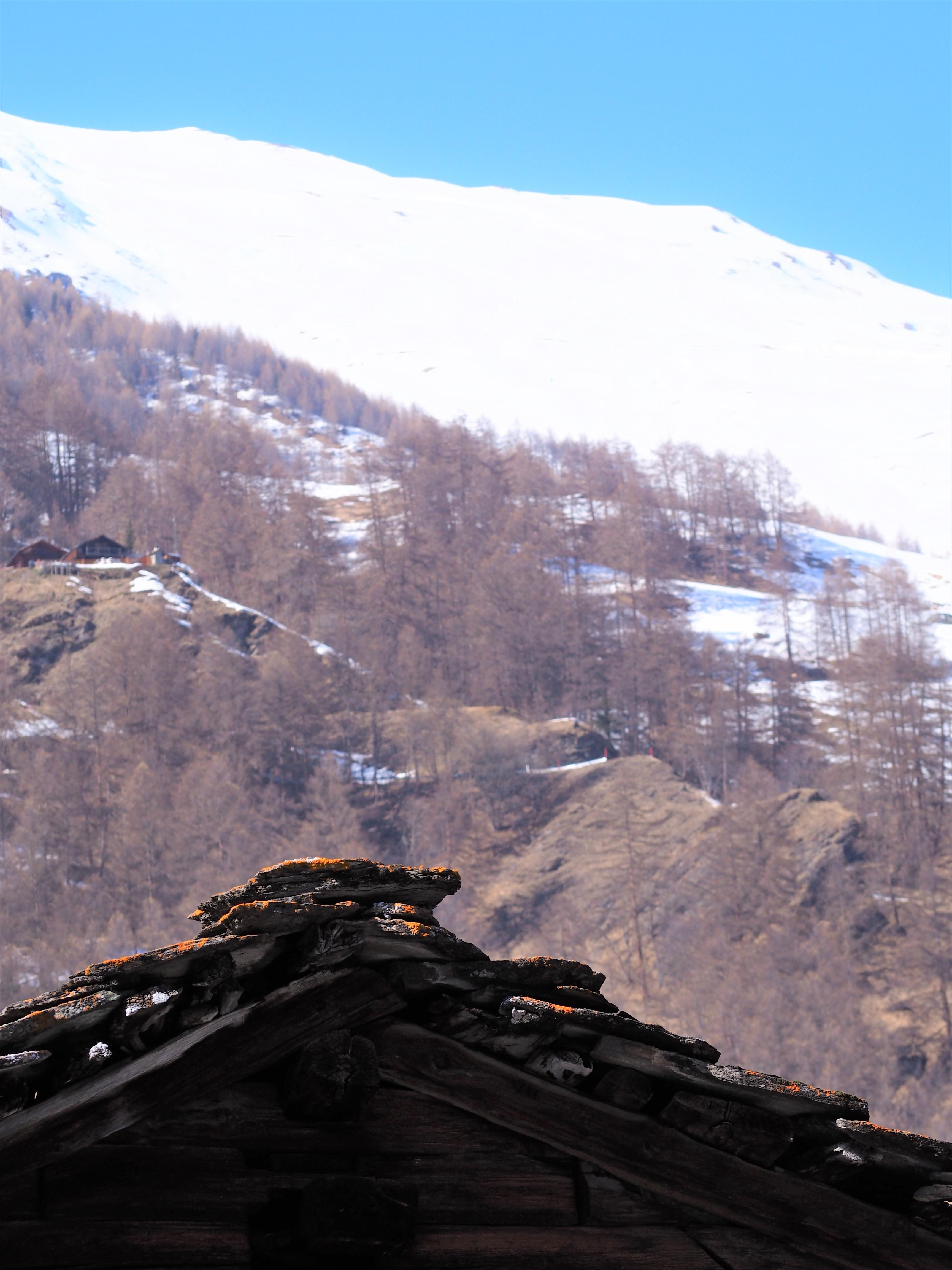 les hauderes suisse valais val d'herens toiture chalet ardoises
