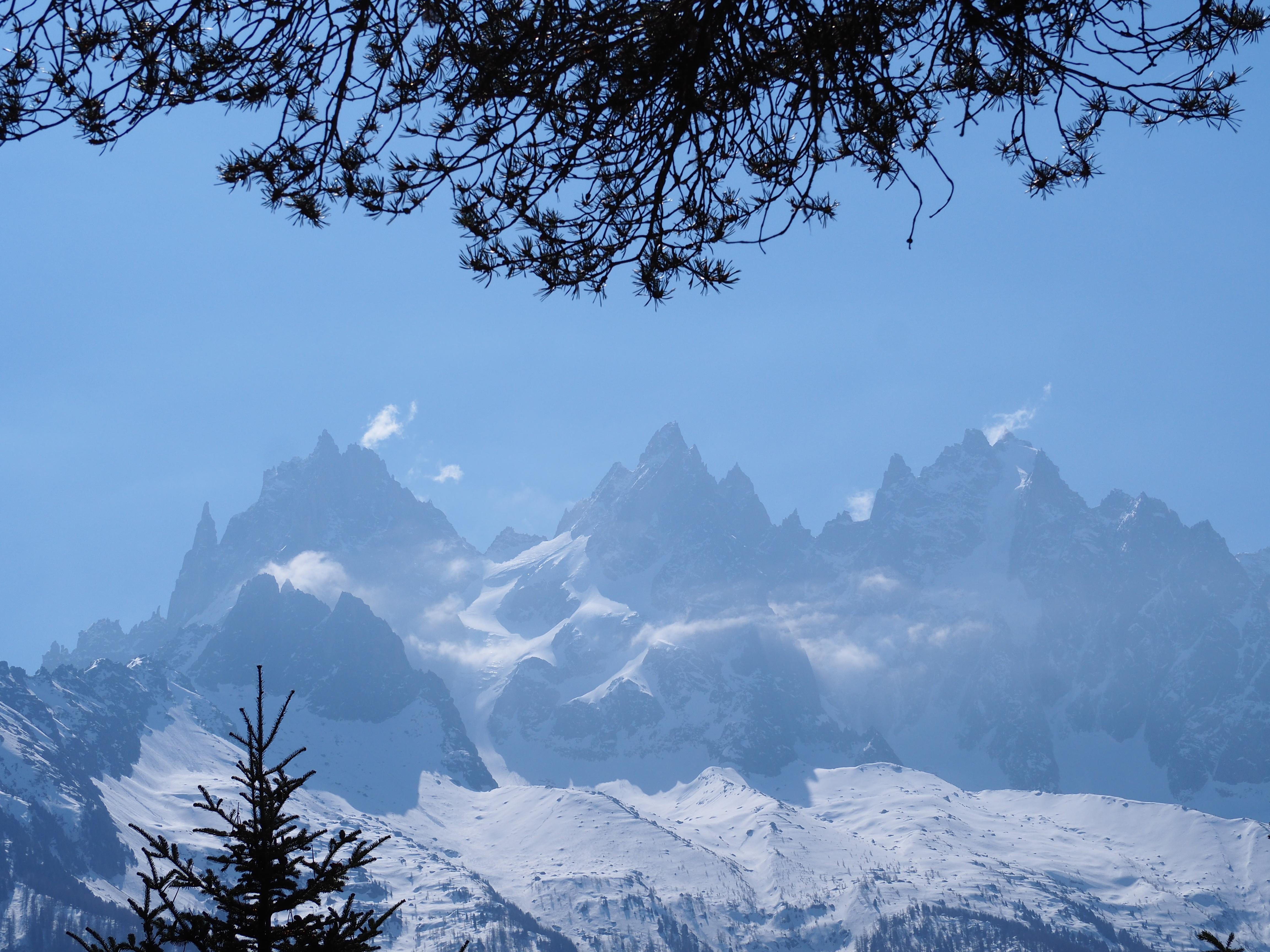 Alpes - Paysage des aiguilles du midi - Mont-Blanc