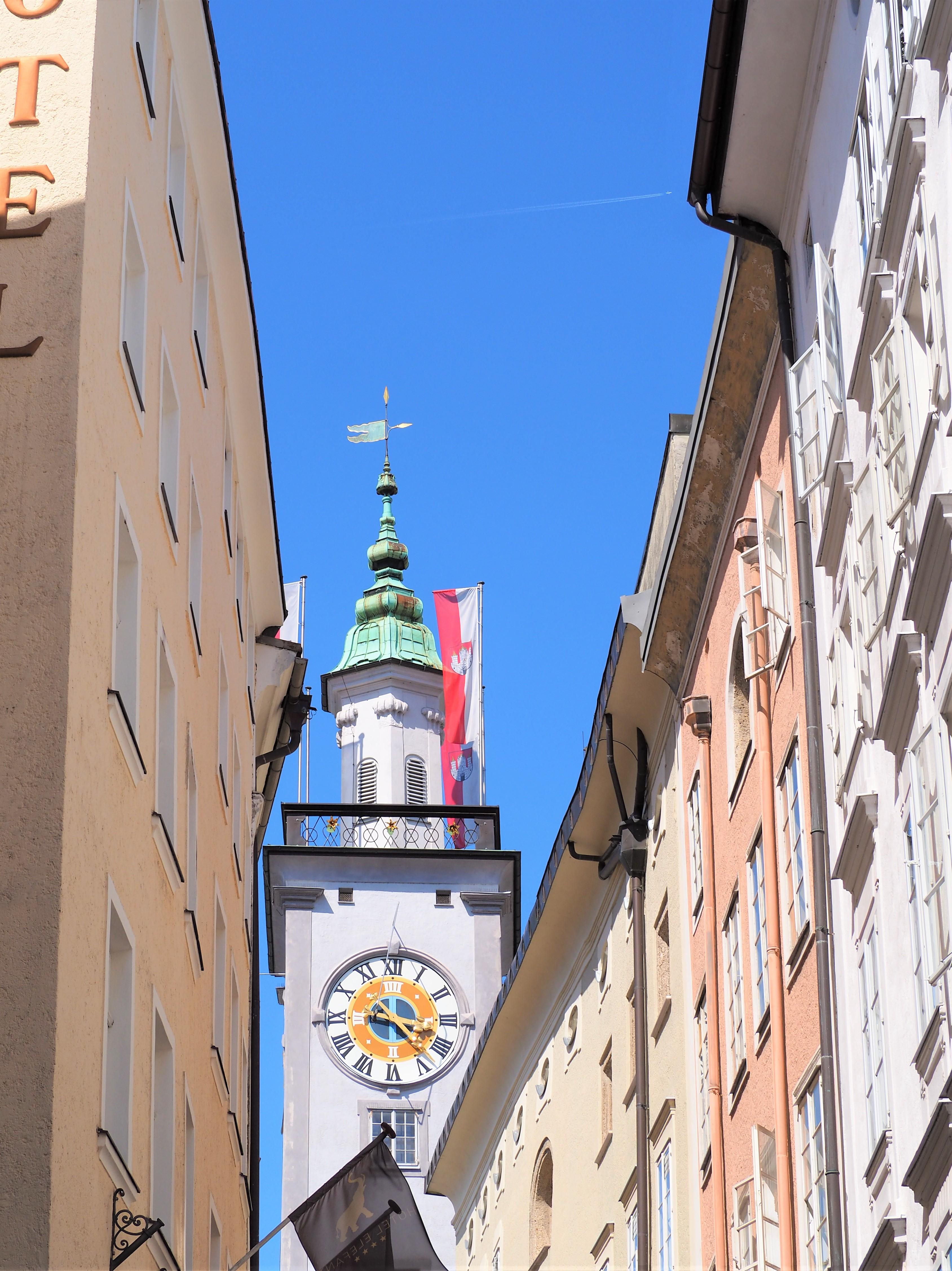 Salzbourg ville horloge