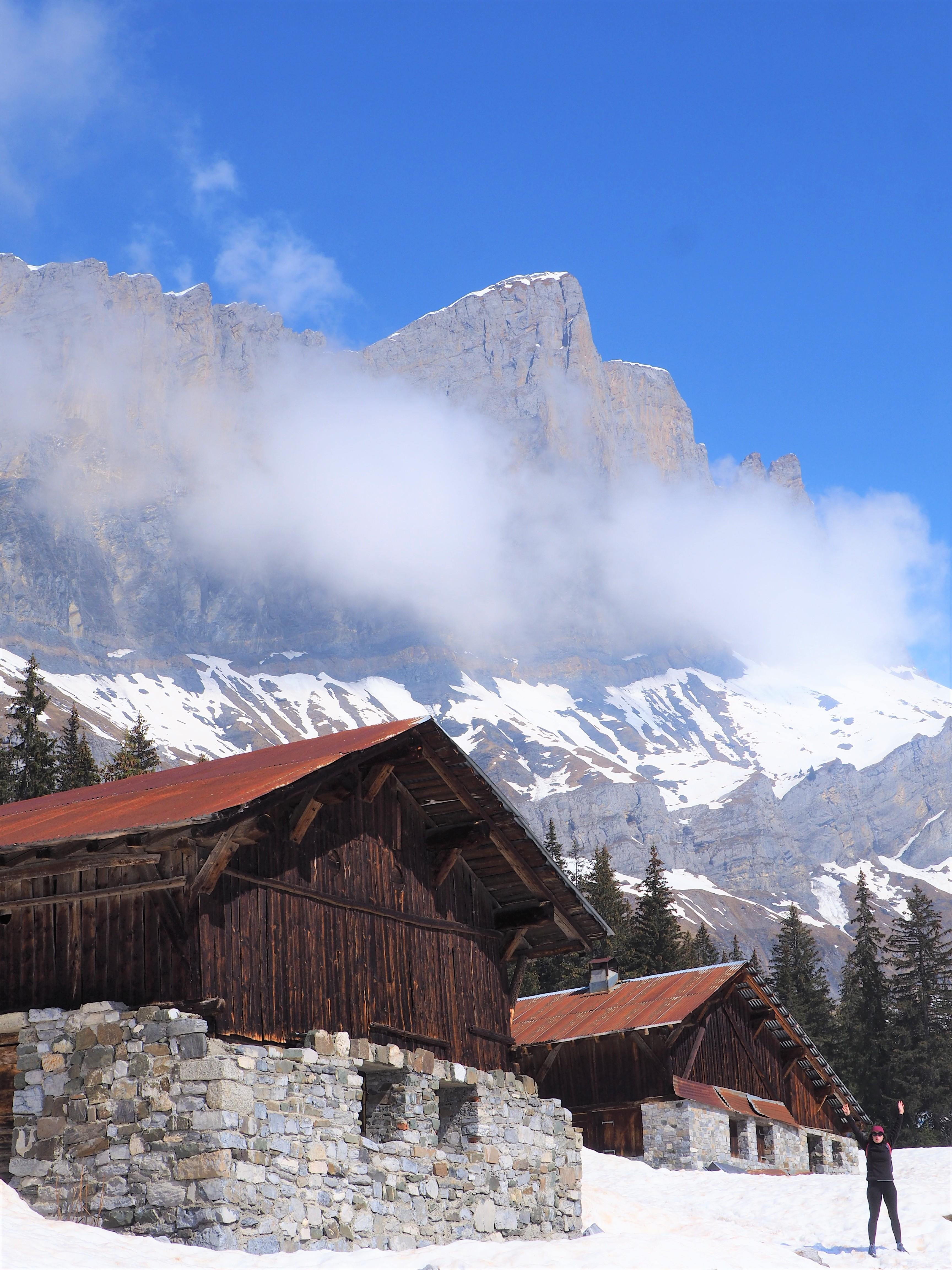 Alpes - Paysage et chalets - randonnée de Barmus