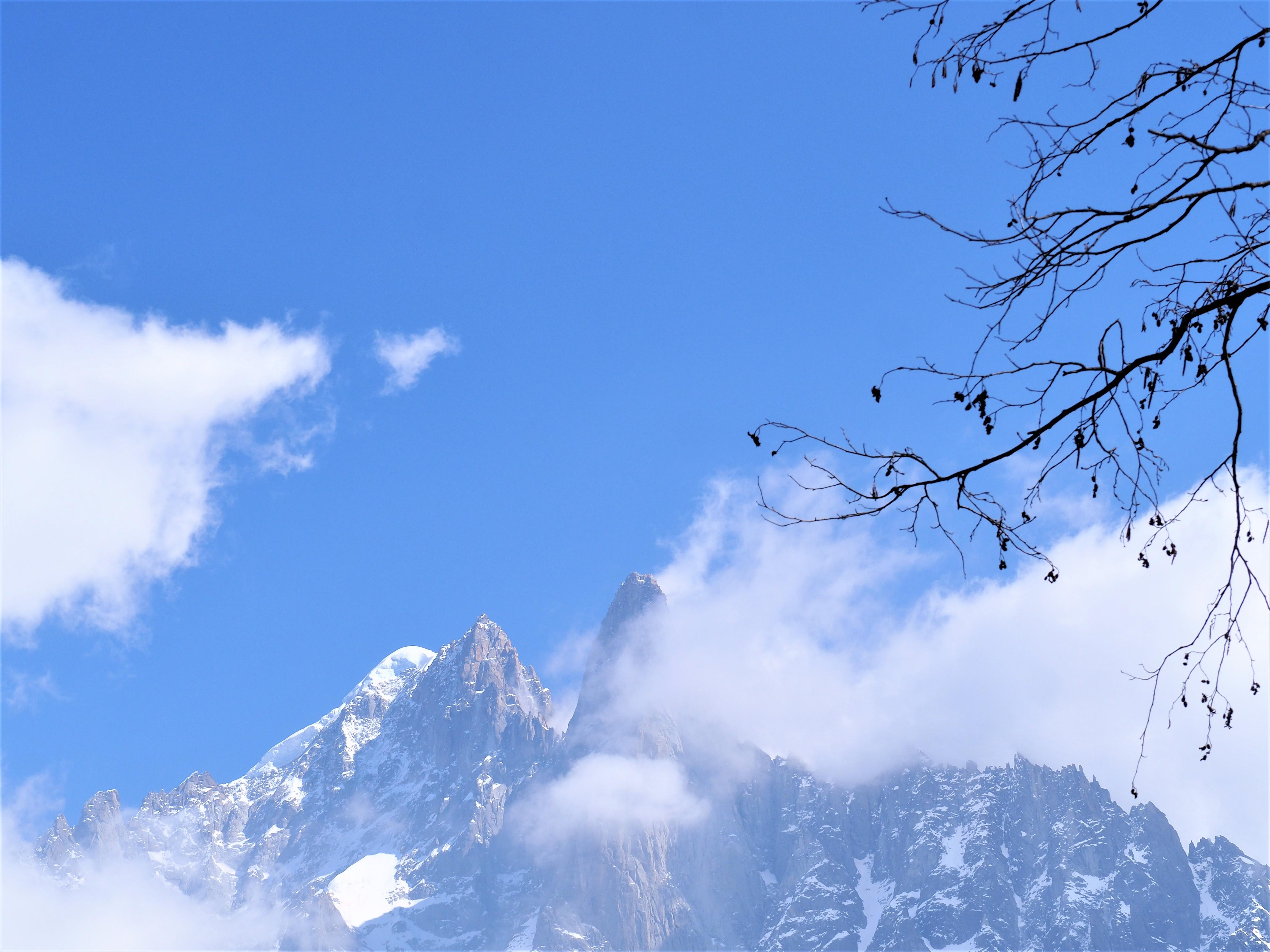sommet près du Mont-Blanc Chamonix