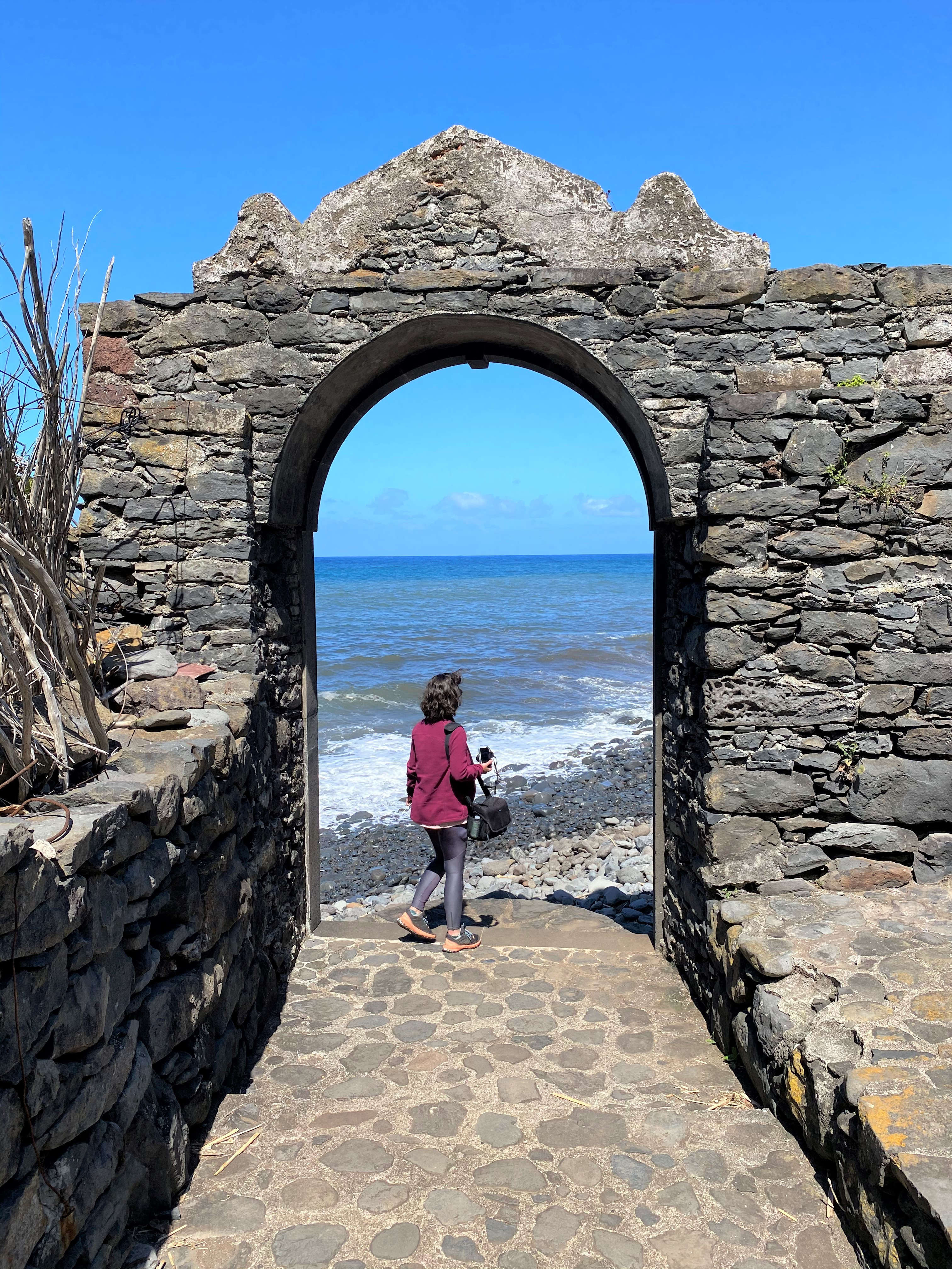 Ruines de saint george - Sao Jorge - Madère - porto da cruz