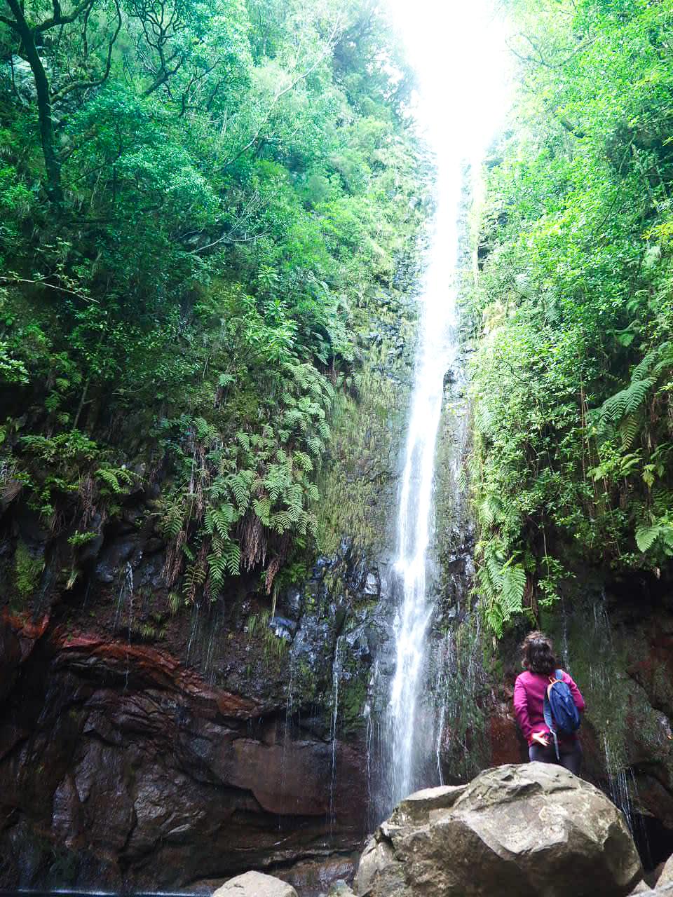 cascade randonnee des 25 fontaines Madere clioandco verdure